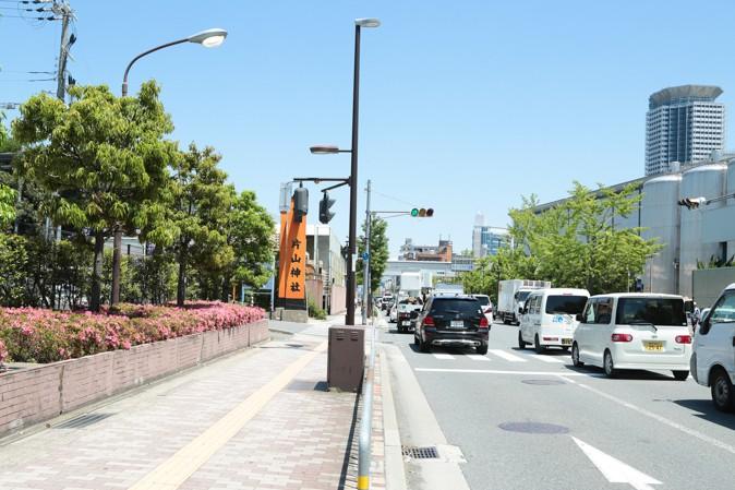 片山神社の道路写真