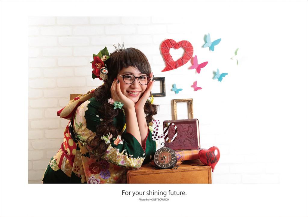 大阪成人式写真撮影のハニーアンドクランチのポスタプレゼント写真4