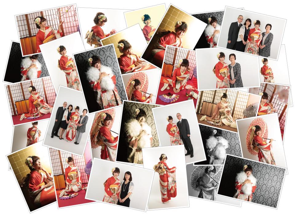 大阪の成人式撮影スタジオ・ハニクラの全写真