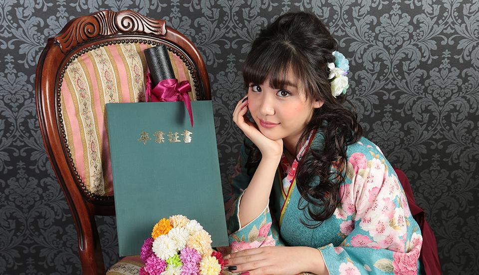 大阪で卒業袴写真ならハニクラのバナー写真