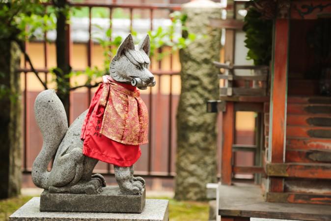 大阪天満宮の狐さま