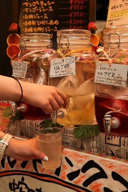 天神橋筋商店街のりんご酢ジュース