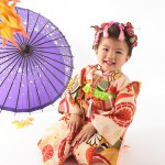 大阪の七五三写真撮影スタジオ・ハニーアンドクランチの3歳女の子和装のフォトギャラリーA005
