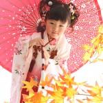 大阪の七五三写真撮影スタジオ・ハニーアンドクランチの3歳女の子和装のフォトギャラリーA084