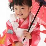 大阪の七五三写真撮影スタジオ・ハニーアンドクランチの3歳女の子和装のフォトギャラリーA085