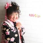 大阪の七五三写真撮影スタジオ・ハニーアンドクランチの3歳女の子和装のフォトギャラリーA187
