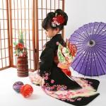 大阪の七五三写真撮影スタジオ・ハニーアンドクランチの7歳女の子和装のフォトギャラリーB146