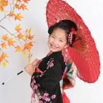 大阪の七五三写真撮影スタジオ・ハニーアンドクランチの7歳女の子和装のフォトギャラリーB186