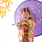 大阪の七五三写真撮影スタジオ・ハニーアンドクランチの3歳女の子和装のフォトギャラリーA020