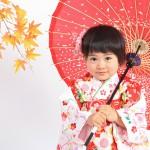 大阪の七五三写真撮影スタジオ・ハニーアンドクランチの3歳女の子和装のフォトギャラリーA001