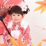 大阪の七五三写真撮影スタジオ・ハニーアンドクランチの3歳女の子和装のフォトギャラリーA003