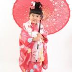 大阪の七五三写真撮影スタジオ・ハニーアンドクランチの3歳女の子和装のフォトギャラリーA004