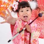 大阪の七五三写真撮影スタジオ・ハニーアンドクランチの3歳女の子和装のフォトギャラリーA006