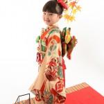 大阪の七五三写真撮影スタジオ・ハニーアンドクランチの3歳女の子和装のフォトギャラリーA008
