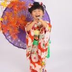 大阪の七五三写真撮影スタジオ・ハニーアンドクランチの3歳女の子和装のフォトギャラリーA009