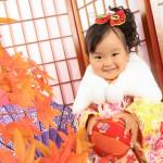 大阪の七五三写真撮影スタジオ・ハニーアンドクランチの3歳女の子和装のフォトギャラリーA010