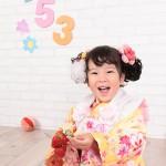 大阪の七五三写真撮影スタジオ・ハニーアンドクランチの3歳女の子和装のフォトギャラリーA011