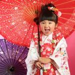 大阪の七五三写真撮影スタジオ・ハニーアンドクランチの3歳女の子和装のフォトギャラリーA014
