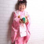 大阪の七五三写真撮影スタジオ・ハニーアンドクランチの3歳女の子和装のフォトギャラリーA016