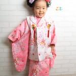 大阪の七五三写真撮影スタジオ・ハニーアンドクランチの3歳女の子和装のフォトギャラリーA017