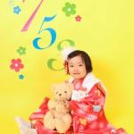 大阪の七五三写真撮影スタジオ・ハニーアンドクランチの3歳女の子和装のフォトギャラリーA023