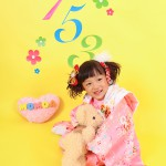 大阪の七五三写真撮影スタジオ・ハニーアンドクランチの3歳女の子和装のフォトギャラリーA025