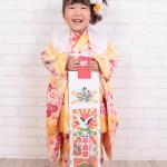 大阪の七五三写真撮影スタジオ・ハニーアンドクランチの3歳女の子和装のフォトギャラリーA027