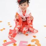 大阪の七五三写真撮影スタジオ・ハニーアンドクランチの3歳女の子和装のフォトギャラリーA028