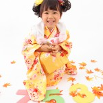 大阪の七五三写真撮影スタジオ・ハニーアンドクランチの3歳女の子和装のフォトギャラリーA032