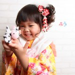大阪の七五三写真撮影スタジオ・ハニーアンドクランチの3歳女の子和装のフォトギャラリーA033