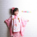 大阪の七五三写真撮影スタジオ・ハニーアンドクランチの3歳女の子和装のフォトギャラリーA034