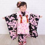 大阪の七五三写真撮影スタジオ・ハニーアンドクランチの3歳女の子和装のフォトギャラリーA035