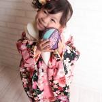 大阪の七五三写真撮影スタジオ・ハニーアンドクランチの3歳女の子和装のフォトギャラリーA036