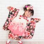 大阪の七五三写真撮影スタジオ・ハニーアンドクランチの3歳女の子和装のフォトギャラリーA038