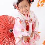大阪の七五三写真撮影スタジオ・ハニーアンドクランチの3歳女の子和装のフォトギャラリーA042