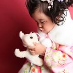 大阪の七五三写真撮影スタジオ・ハニーアンドクランチの3歳女の子和装のフォトギャラリーA044