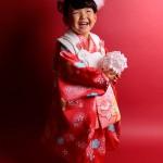 大阪の七五三写真撮影スタジオ・ハニーアンドクランチの3歳女の子和装のフォトギャラリーA050