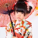 大阪の七五三写真撮影スタジオ・ハニーアンドクランチの3歳女の子和装のフォトギャラリーA051