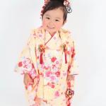 大阪の七五三写真撮影スタジオ・ハニーアンドクランチの3歳女の子和装のフォトギャラリーA055