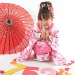 大阪の七五三写真撮影スタジオ・ハニーアンドクランチの3歳女の子和装のフォトギャラリーA057