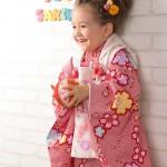 大阪の七五三写真撮影スタジオ・ハニーアンドクランチの3歳女の子和装のフォトギャラリーA058