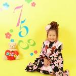 大阪の七五三写真撮影スタジオ・ハニーアンドクランチの3歳女の子和装のフォトギャラリーA061