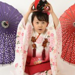 大阪の七五三写真撮影スタジオ・ハニーアンドクランチの3歳女の子和装のフォトギャラリーA062