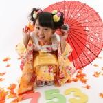 大阪の七五三写真撮影スタジオ・ハニーアンドクランチの3歳女の子和装のフォトギャラリーA063