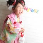 大阪の七五三写真撮影スタジオ・ハニーアンドクランチの3歳女の子和装のフォトギャラリーA067