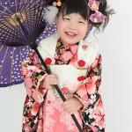 大阪の七五三写真撮影スタジオ・ハニーアンドクランチの3歳女の子和装のフォトギャラリーA068
