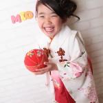 大阪の七五三写真撮影スタジオ・ハニーアンドクランチの3歳女の子和装のフォトギャラリーA069