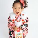 大阪の七五三写真撮影スタジオ・ハニーアンドクランチの3歳女の子和装のフォトギャラリーA073