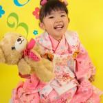 大阪の七五三写真撮影スタジオ・ハニーアンドクランチの3歳女の子和装のフォトギャラリーA075