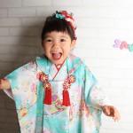 大阪の七五三写真撮影スタジオ・ハニーアンドクランチの3歳女の子和装のフォトギャラリーA077